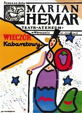 Original theater Polish poster by Młodożeniec, Hemar