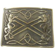 Men's Kilt Belt Buckle Saltire Lion Rampant Antique Finish/Scottish Belt Buckle