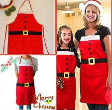 Rosso Divertente Natale Babbo Cucina Casa Asta Adulto Festa Grembiule Regalo