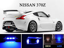 Ultra Blue Vanity / Sun visor  LED light Bulbs for Nissan 370Z (4 Pcs)