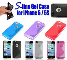 S-LINE GEL CASE COVER FOR IPHONE 5 / 5S TPU RUBBER SILICONE WAVE BUMPER S STYLE