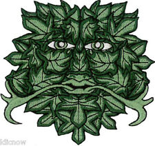 "GREEN MAN Embroidered PATCH 8.5cm x 9cm (3 1/4"" x 3 1/2"") approx"