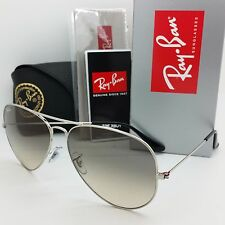 NEW RAYBAN Sunglasses RB3025 003/32 55mm Aviator Silver Gradient Gray AUTHENTIC