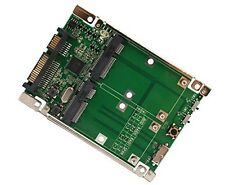 "2.5"" SATA 6G / USB 3.0 to Dual mSATA RAID Adapter"
