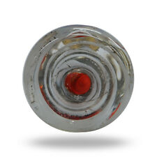 Glass Centri Red and White Spin Cabinet Drawer Knob Home Decor Door Pull