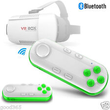 VR CAJA Realidad Virtual 3D Gafas Bluetooth Remote Control Para iphone