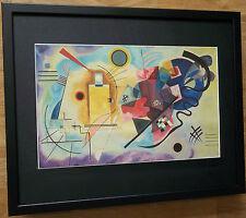 Kandinsky print - 20''x16'' framed, abstract wall art, Yellow, Red, Blue