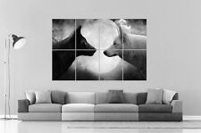 WOLF  BLACK AND WHITE FULL MOON LOUP Wall Art Poster Grand format A0 Large Print