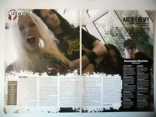 COUPURE DE PRESSE-CLIPPING :  ARCH ENEMY [2pages] 2005 Angela Gossow,Doomsday...