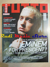 Rivista TUTTO MUSICA 1/2003 Eminem Radiohead Alice Cooper Foo Fighters  NO cd