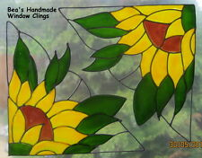 BEA'S SUNFLOWERS  CORNER DECALS  MIRROR WINDOW CLING DECORATION DECAL