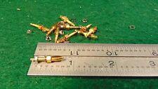 (10) Miniature Banana Plugs Gold Plated ARC-5 SCR-274N UNUSED