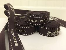 100% Authentic  Hermes Paris Brown Gift Wrapping Ribbon 55""