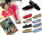 Unisex Women Men's Summer Canvas Shoes Slip-on Casual Flat Leisure Solid Shoe