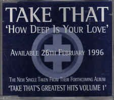 Take That-How Deep Is Your Love Promo cd single