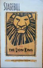 Danny Rutigliano (Only) Signed Playbill The Lion King Heather Headley Tom Hewitt