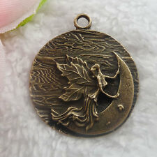 Free Ship 32 pieces bronze plated angel pendant 43x36mm  #065
