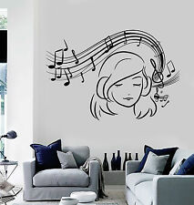 Vinyl Wall Decal Musical Teen Girl Notes Music Decoration Stickers (ig4722)