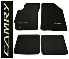 Fit 92-96 Toyoa Camry Nylon Floor Mats Carpets Black 4pcs With Embroidery