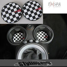 MINI COOPER R55 CLUBMAN R56 R57 R58 R59  CUPHOLDER  EINSATZ CHECKERED FLAG