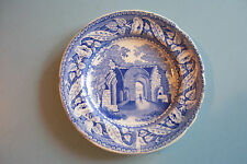 "RARE BLUE & WHITE MINTON MINIATURE SERIES ""KENELWORTH PRIORY"" PLATE C.1830"