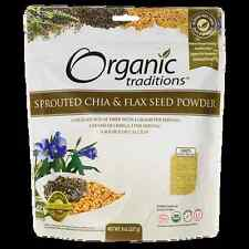 Organic Traditions Organic Sprouted Chia & Flax Seed Powder 8 oz (227 grams) Pkg