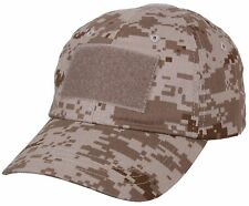 Desert Digital Tan Camouflage Tactical Operator Cap - Patch Area Baseball Hat