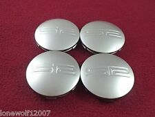 SR Racing Wheels Silver Custom Wheel Center Caps Set of 4 # 1000SR2 / 171K65