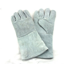 Genuine Leather Long section Garden Gloves Work Gloves Electric welding Gloves