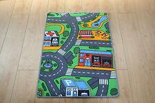 Kids Bedroom Car Play Mat Rug 61cm x 94cm Car Roads Play Nursery Road Mat