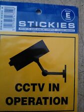 VINYL STICKER CAR CAMPER BUILDING YARD  TAXIS OFFICE GARAGE  CCTV IN OPERATION