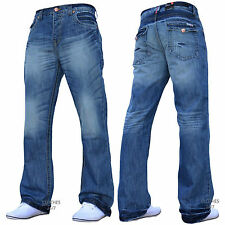 BNWT NEW MENS DESIGNER BOOTCUT FLARED WIDE LEG DENIM JEANS ALL WAIST & SIZES