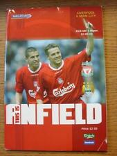 03/05/2003 Liverpool v Manchester City  (Creased, Nicks)
