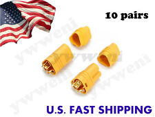 10 pairs AMASS MT60 3.5mm 3-pole Bullet Connectors Plug Set For RC ESC to Motor