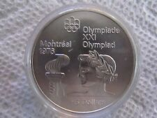 1976 Canada Montreal Olympics Silver Commemorative Series II 1974 - $5 Torch