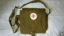 Authentic Soviet Russian Army Medical Corpsman Bag, Red Cross