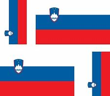 Set of 4x sticker vinyl car bumper decal outdoor car moto world flag slovenia