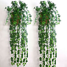 1X Stray Ivy Vine Green Artificial Plastic Leaves Garland Plants Vine Foliage WB