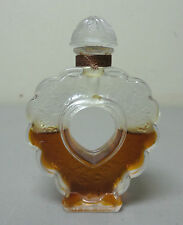 "BEAUTIFUL LALIQUE NINA RICCI ""COEUR JOIE"" HEART SHAPE CRYSTAL PERFUME BOTTLE"