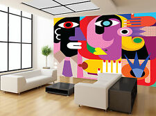 Colours Abstract Picasso Art Style Wall Mural Photo Wallpaper GIANT WALL DECOR