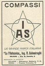 Y2652 Compassi IAS - Ing. Salmoiraghi - Pubblicità del 1922 - Old advertising