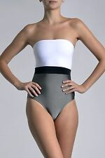 Marie France Van Damme One Piece Colorblock Bustier Swimsuit Size 0 (XS) $329