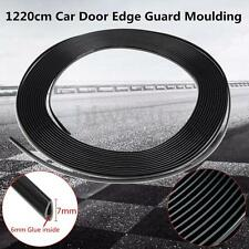 40Ft 1220cm Chrome Black Car Door Edge Guard Moulding Trim DIY Protector Strip