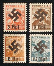 Österreich, 3.Reich ,WW2, Nr 568, 573 - 575 Hakenkreuz Aufdruck ** 1A  Rarität.#