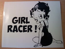 Betty Boop girl racer girls vinyl car sticker novelty funny rear bumper window