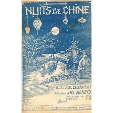 NUITS DE CHINE fox trot oriental paroles E. DUMONT musique FL BENECH partition
