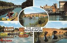 B101318 the lower river avon eckington bridge tewkesbury  uk 14x9cm
