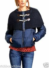 NWT Anthropologie Daughters of Liberation navy Cape Toggle Puffer Coat S $198
