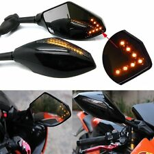 BLACK Integrated Turn Signal Mirrors for Yamaha YZF R1 R6 02 03 04 05 06 07 08