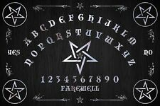 Ouija Board with Planchette -Classic Starboard Black Board by OccultBoards.com